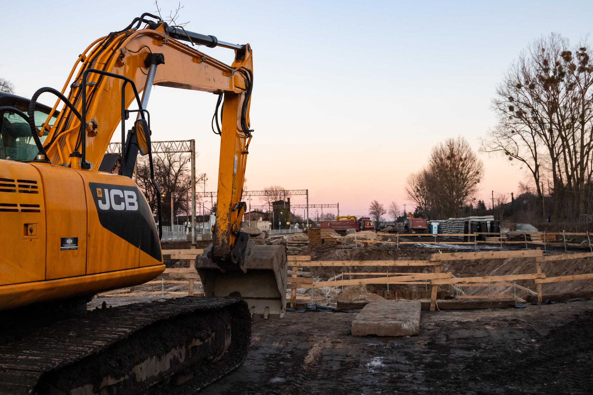 Galeria zdjęć pokazuje początkowe prace na stacji Wronki, które miały miejsce w lutym 2019 roku.