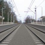 Wizualizacja przedstawia dwa zdjęcia, które przesuwa się przy pomocy suwaka. Jedno zdjęcie pokazuje przystanek Szczecin Zdunowo przed modernizacją, a drugie zdjęcie to wizualizacja jak docelowo przystanek będzie wyglądał po modernizacji.