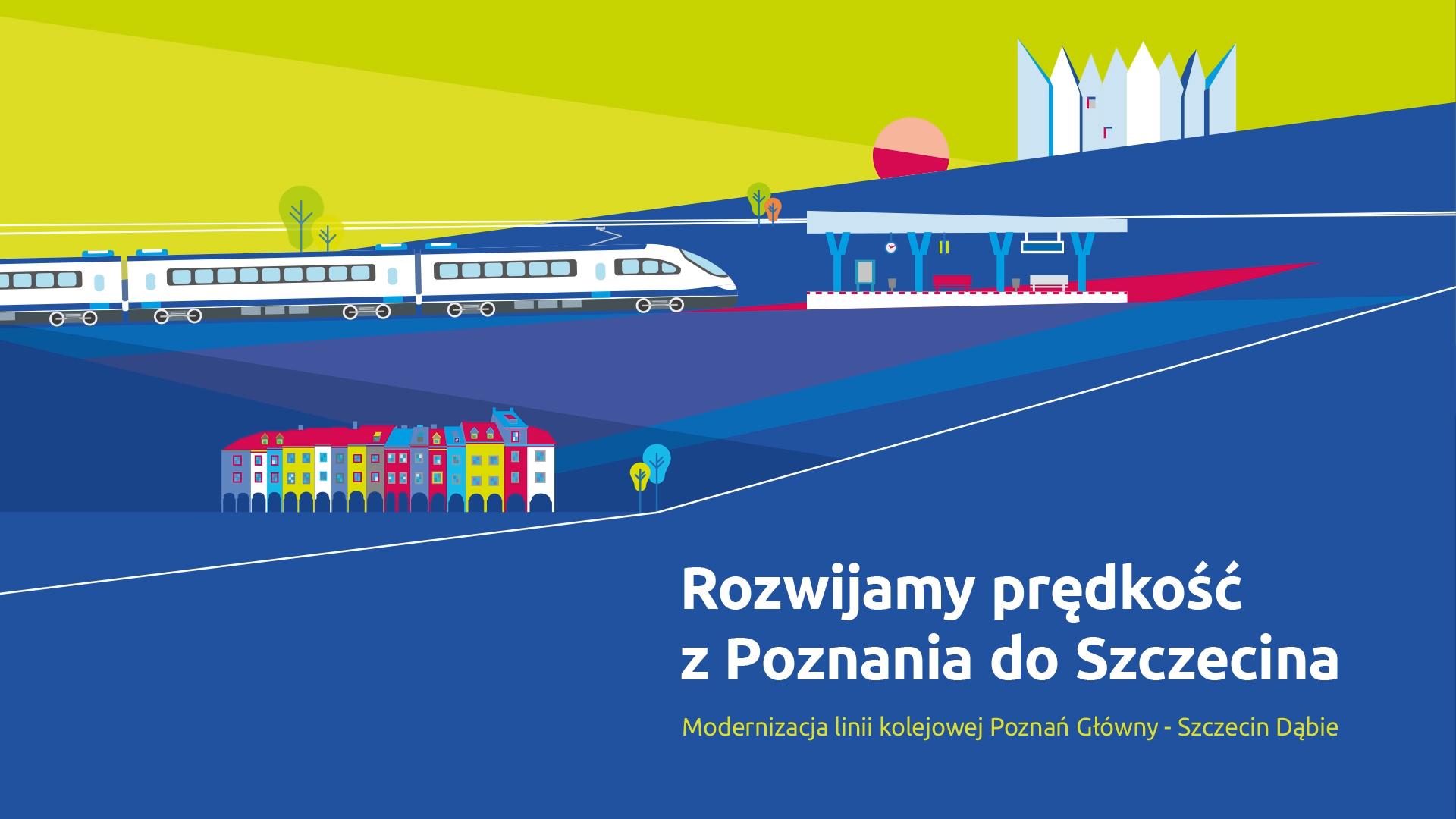 Miniatura filmu przedstawia planszę graficzną, na której pokazane są kolorowe kamienice oraz pociąg dojeżdżający do stacji. Film opowiada o wiosennych pracach na szlaku Poznań-Wronki w 2019 roku.