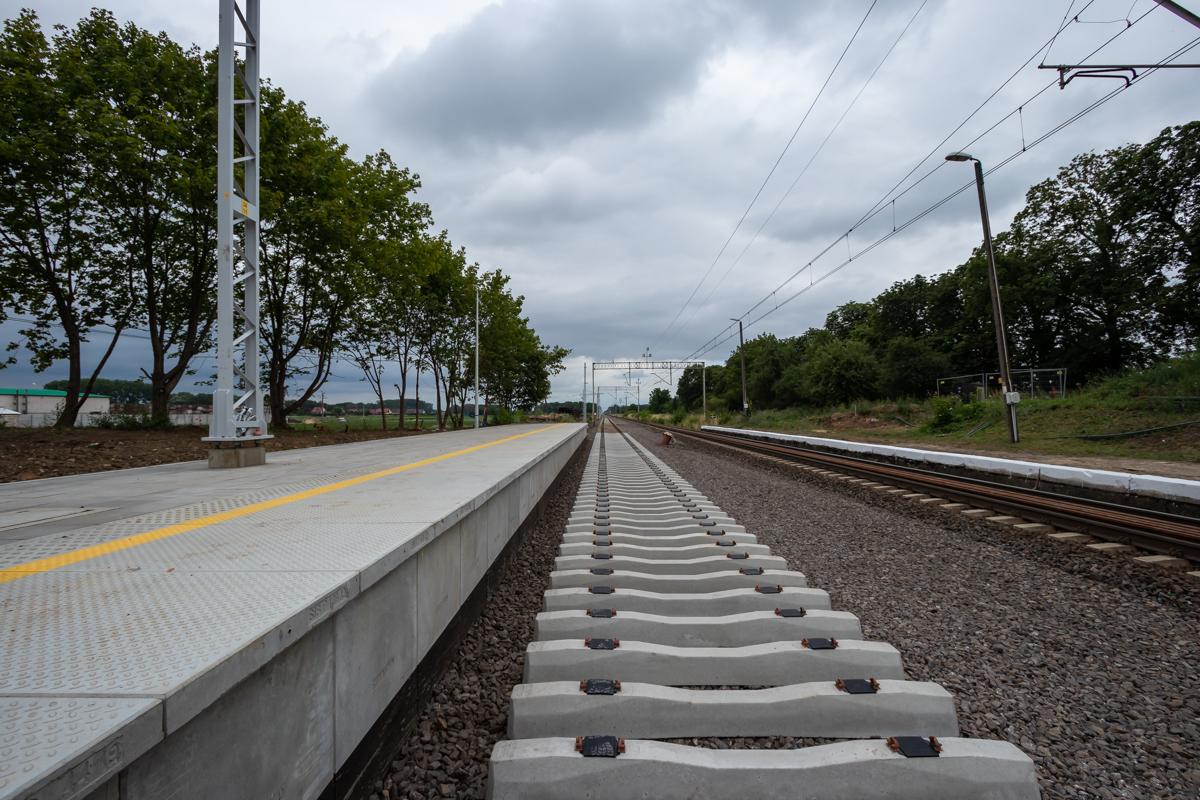 Galeria zdjęć prezentuje prace budowlane na stacji Szamotuły oraz przystankach Baborówko i Pamiątkowo, które miały miejsce w lipcu 2019 roku.
