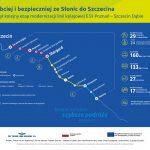 Infografika o kolejnym etapie modernizacji na odcinku Słonice-Szczecin