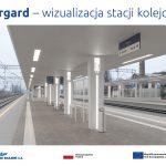 Infografika - wizualizacja stacji kolejowej w Stargardzie
