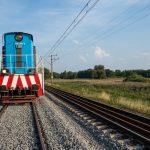 Pamiątkowo-Baborówko - widok na tory kolejowe