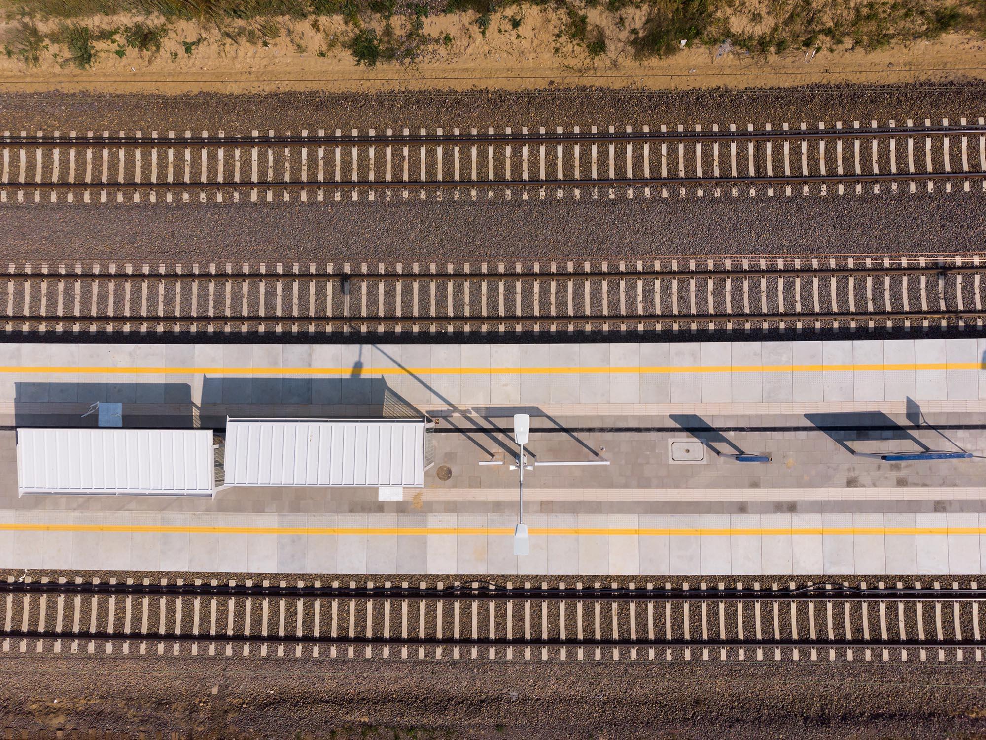 Kiekrz – stacja. Widok z lotu ptaka