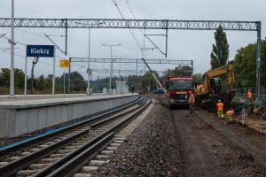 Kiekrz – stacja. Prace budowlane