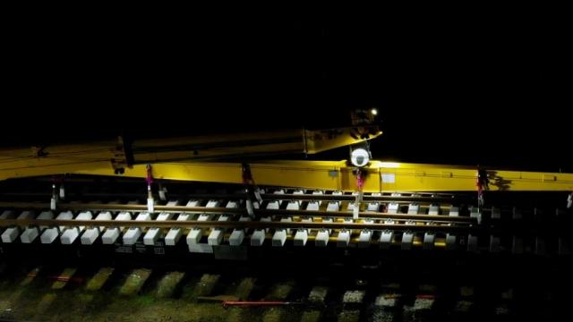Szamotuły - montaż rozjazdów wtechnologii blokowej