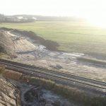 Zdjęcie przedstawia budowę bajpasu kolejowego naodcinku Tczew-Kostrzyn.